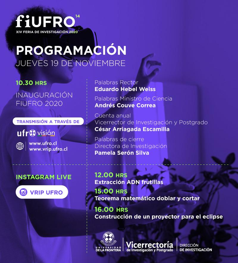 Programa inauguracion fiufro2020